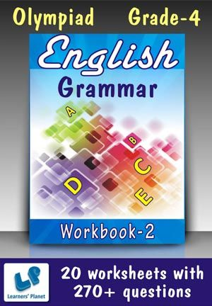 GRADE-4-OLYMPIAD-ENGLISH-GRAMMAR-WORKBOOK-2 This workbook contains printable worksheets on English Grammar (Adjectives & Adverbs, Prepositions, Conjunctions, Parts of Speech, Compound & Confusing Words, Homonyms & Homophones, Prefix, Suffix & Syllables, Types of sentences, Antonyms & Synonyms, Idioms & Proverbs) for Grade 4 students.  There are total 20 worksheets with 270+ questions.  Pattern of questions : Multiple Choice Questions…    PRICE :- RS.149.00