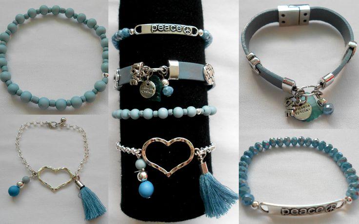 Mooie combinatie in grijsblauw tinten. www.tinytreasures.nl www.facebook.com/mariastinytreasures