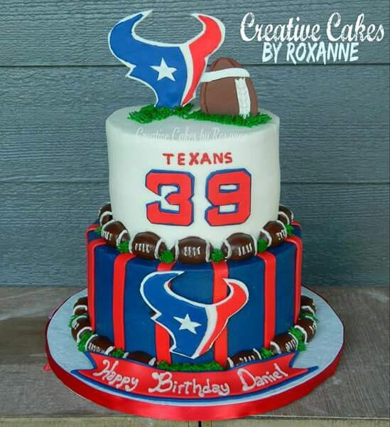 Houston Texans cake #creativecakesbyroxanne  #texans #houstontexanscakes                                                                                                                                                     More