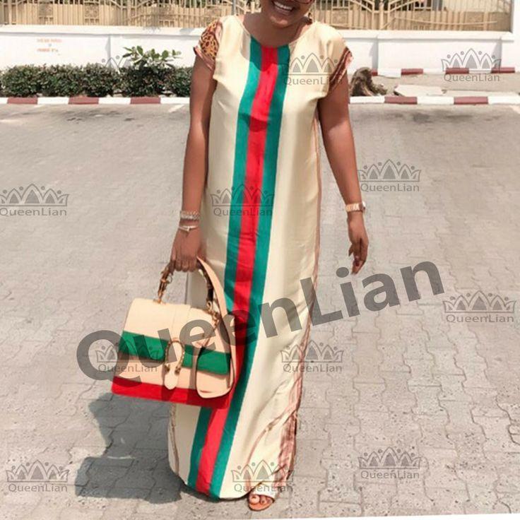 2017 New Fashion Design African Women Bazin Riche Super Elastic Party Plus Party Size Dashiki Dress For Lady