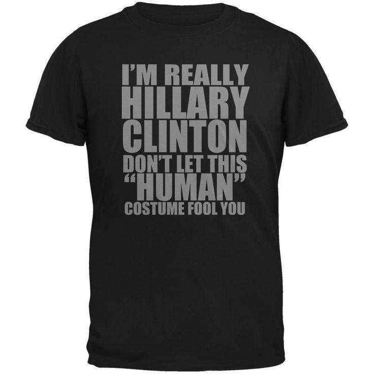 Halloween Election Hillary Clinton Costume Black Adult T-Shirt