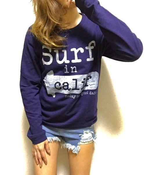 SURF×california ロンT ネイビー