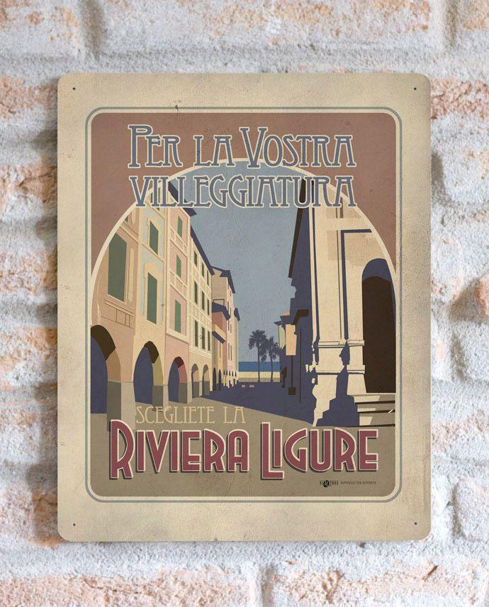 Riviera ligure   TARGA   Vimages - Immagini Originali in stile Vintage 12 min