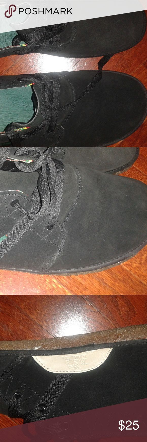 Men's Bob Marley desert boots. sz.11 Men's black pair of desert boots, by Bob Marley. genuine suede leather sz.11 excellent condition Bob Marley Shoes Chukka Boots