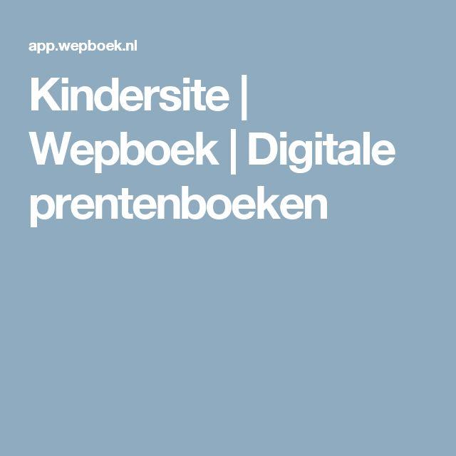 Kindersite | Wepboek | Digitale prentenboeken