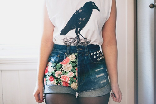 DIY Denim Shorts. coachella