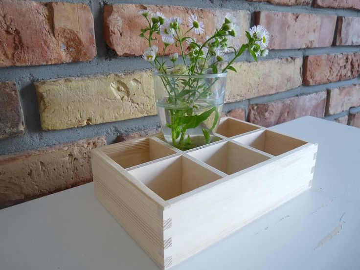 Unfinished Wooden Organizer, Wood Box with compartments, Countertop Storage Organizer,  Spice Rack knick Knack display shelf compartment, by nkcraftstudio on Etsy