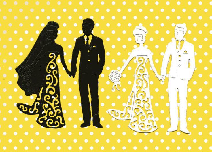 TATTERED LACE BRIDE & GROOM SILHOUETTE DIE CUTS - TOPPER--LOVE-WEDDING COUPLE in Crafts, Cardmaking & Scrapbooking, Die-Cut Shapes & Punchies | eBay