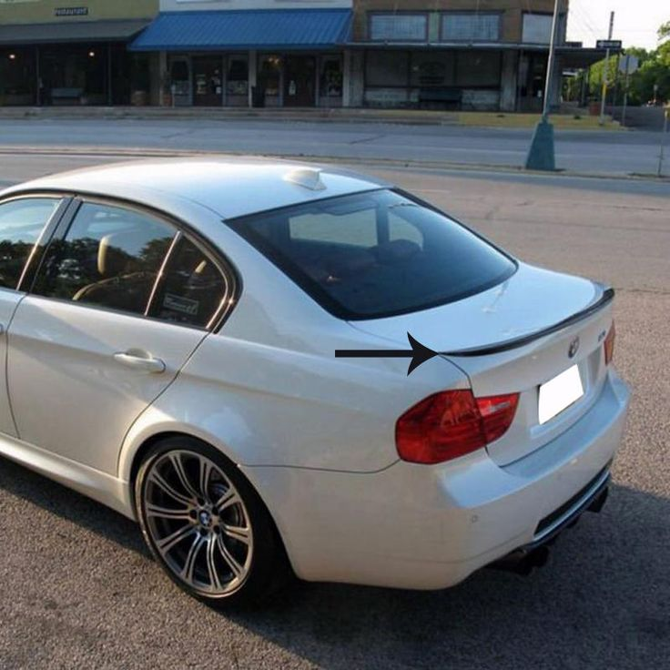 Автомобильный дизайн ABS материал задний спойлер для BMW E90 318 320 325 330I 2007 - 2011 без краски авто украшения аксессуары
