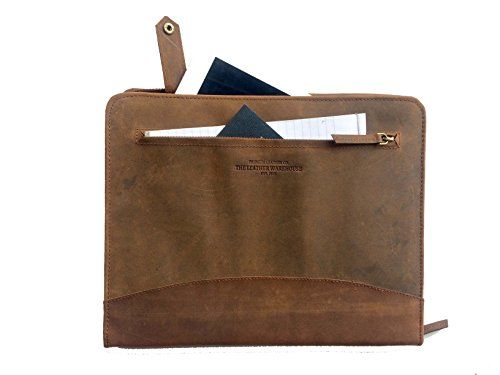 THE LEATHER WAREHOUSE Men/Women Handmade Office Folder Multipurpose