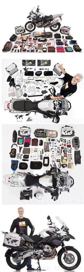 """PACKING YOUR ADVENTURE BIKE """"MULE"""" How one man prepared his bike for a 15,000 mile adventure trip    ( BMW R1200GS ) http://www.cycleworld.com/2013/03/19/packing-your-adventure-bike-for-world-traveling/"""