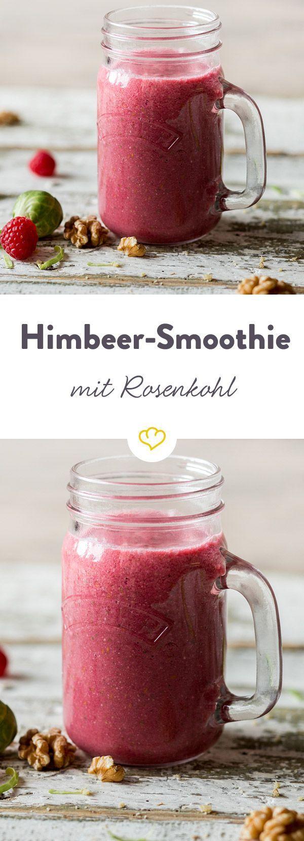 Satte Rosenkohl-Power mit Beerenmix! Das gesunde Wintergemüse versorgt experimentierfreudige Smoothie-Trinker in diesem Fruchtmix mit viel Vitamin C.