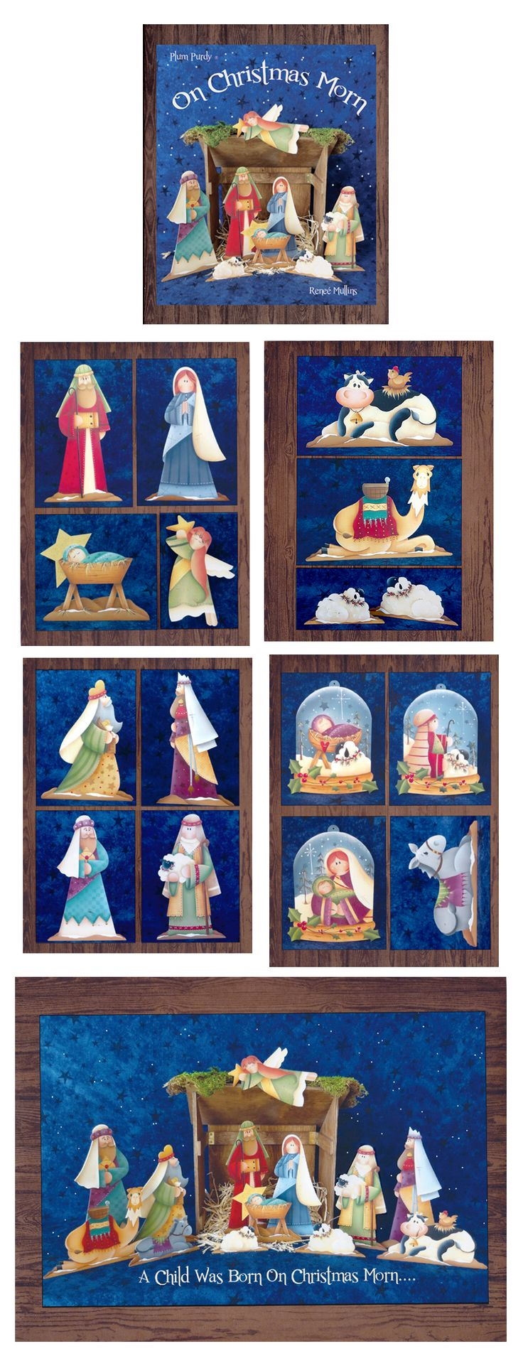 On Christmas Morn (BOOK)--Love this new book and the surfaces from Plum Purdy Designs.  What a precious manger scene to paint!