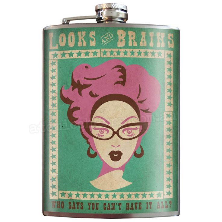 Looks & Brains Stainless Steel Hip Flask
