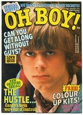 JILTED JOHN on 1977 OH BOY! Magazine..  cover photo + article on JILTED JOHN aka GRAHAM FELLOWS... Manchester comedian, actor & singer. This Teen Magazine also did a cover with DEE GENERATE (EATER)& PAUL SIMONON (CLASH)!
