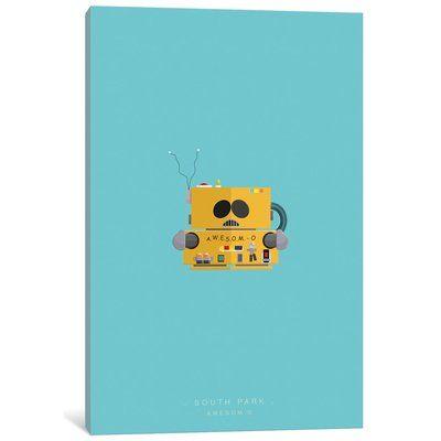 "East Urban Home 'Famous Robots Series: South Park (A.W.E.S.O.M. - O.)' Graphic Art Print on Canvas Size: 26"" H x 18"" W x 1.5"" D"