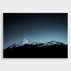 Southern Alps Photographic Art Print by Rueben James