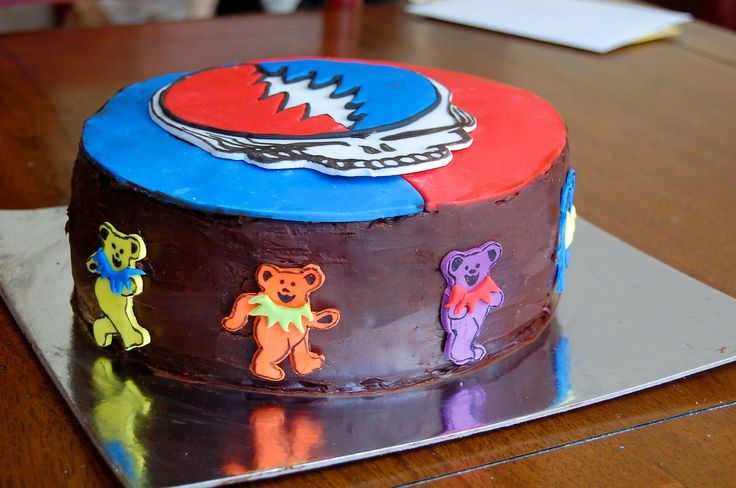 Grateful Dead Cake For My Dad S Birthday Birthday Cakes