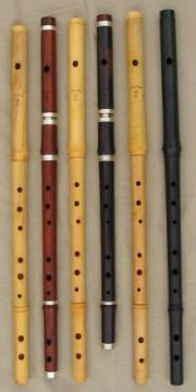 The beautiful Burke Irish flutes, Lovely sound as well!