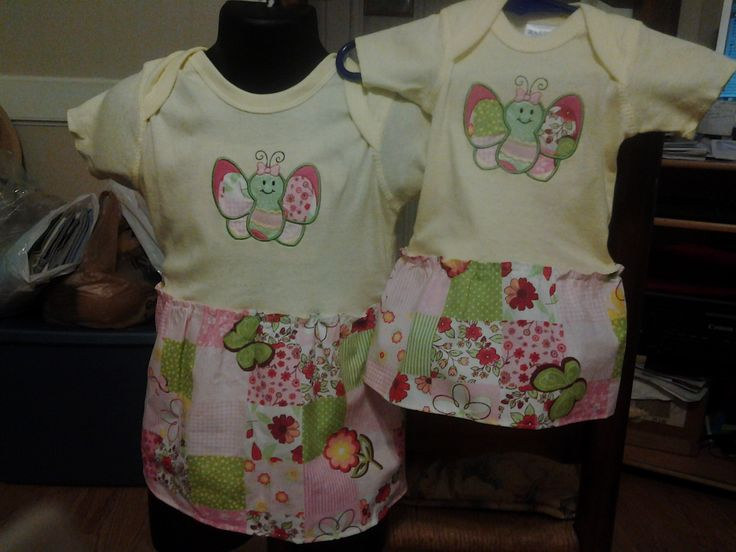 Tee-shirt dresses One is a size 18 months the other one is a size 0-3 months. $30 each or both for $50.