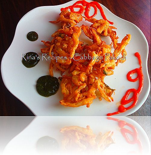 Cabbage Fritters or Pakoras