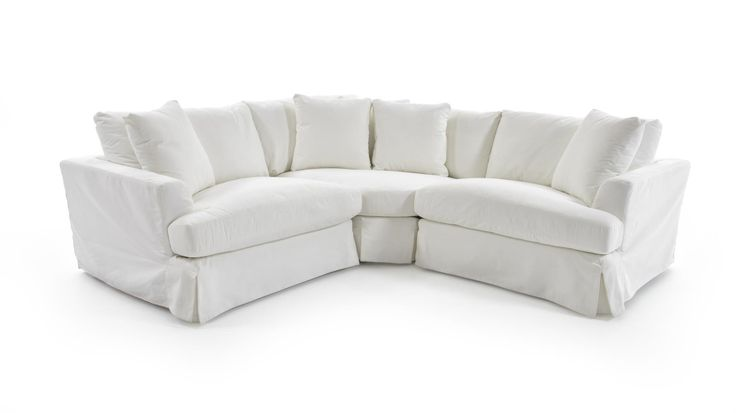 1300 Three Piece Corner Sectional Sofa With Slipcover By