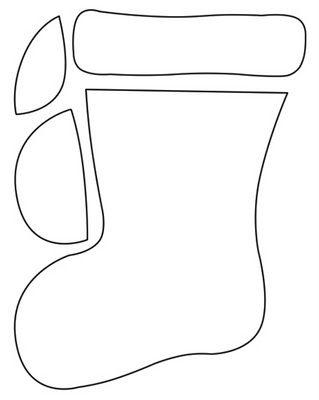 Molde para hacer una bota navideña