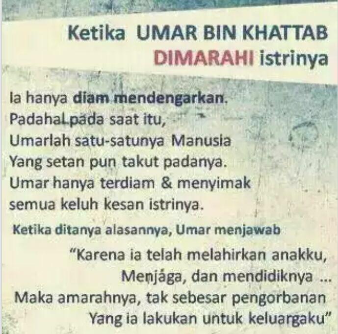 Umar dimarahi isteri