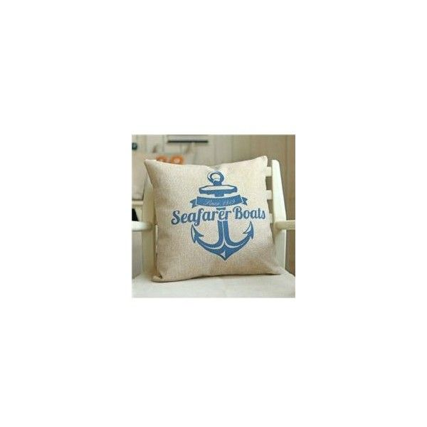 Linen Cotton Blue Mediterranean Style Throw Pillow ❤ liked on Polyvore featuring home, home decor, throw pillows, blue home decor, mediterranean home decor, blue toss pillows, blue accent pillows and blue throw pillows