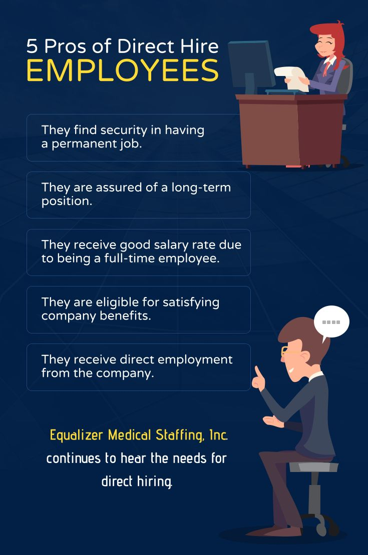 5 Pros Of Direct Hire Employees Pros Employees Staffing Staff