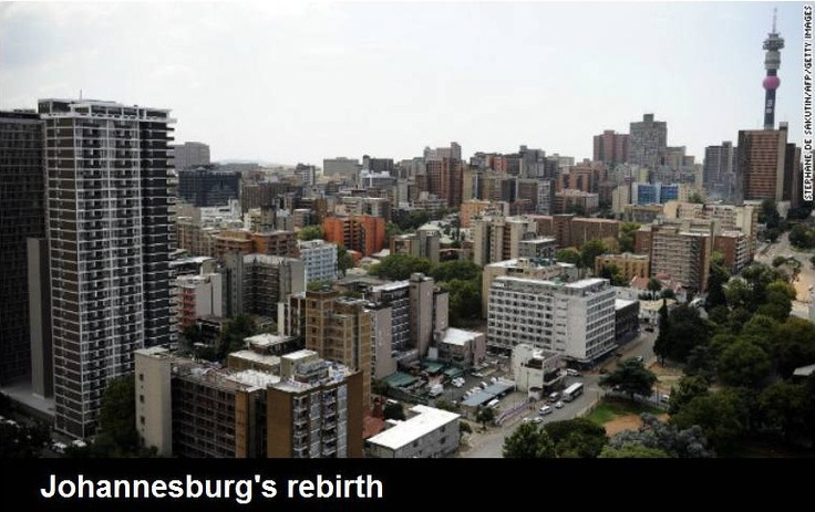 Hillbrow Tower and Johannesburg skyline, South Africa