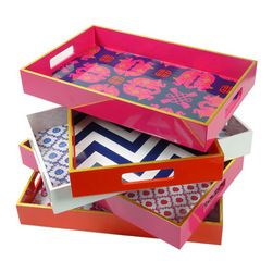 Handmade Tray Decoration Cool 11 Best Pink Trays Images On Pinterest  Coffee Table Tray Pink Design Inspiration