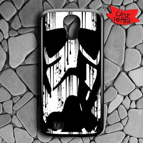 Black White Storm Trooper Samsung Galaxy S4 Black Case