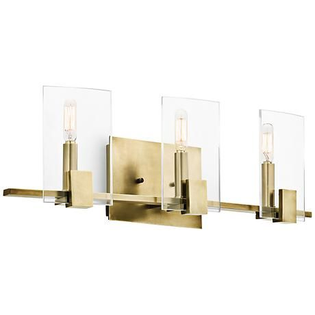 Kichler signata 24 wide 3 light natural brass bath light