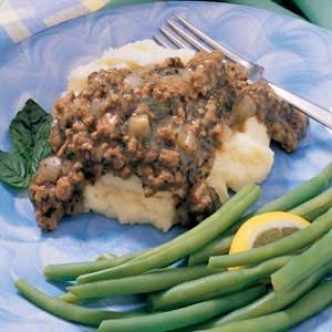 Ground Beef Gravy...the 1st time I had this was in the 70's when I was working for singer Hank Locklin & we went to a friend of his for supper in AL.  She threw it together fast for a bunch of us & it was awesome!  I'd never had it before, w/o milk which we call SOS.  Totally different taste!  Thanks Mayme!