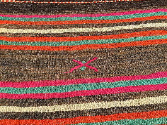 Kilim rug pink kilim turkish kilim rug6'1x9'3ft by EclecticRug