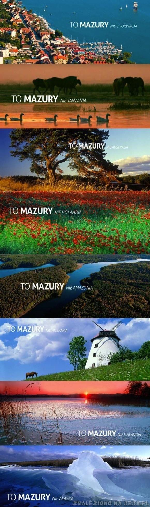 """Wielka kampania """"Mazury - cud natury"""", która z pewnością wejdzie do annałów polskiej reklamy :D"""