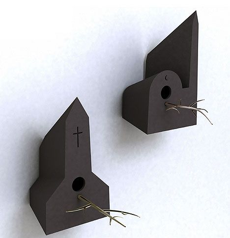 56 besten vogelhaus modern birdhouse bilder auf. Black Bedroom Furniture Sets. Home Design Ideas