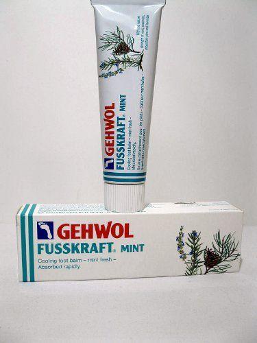 Gerlach Gehwol FUSSKRAFT MINT Cooling Foot Balm, 75ml (2.6oz) by E Gerlach GmbH, http://www.amazon.ca/dp/B00BNTGCX6/ref=cm_sw_r_pi_dp_di2trb1KDE4M6