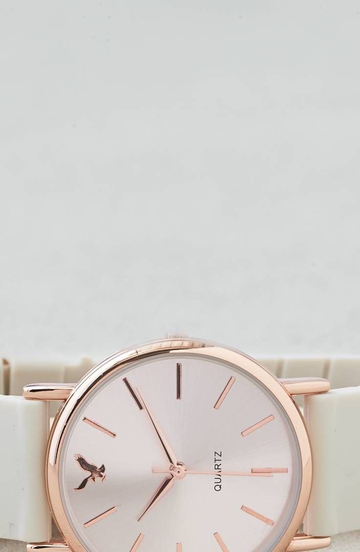 AEO Cream   Rosegold Rubber Watch  by  American Eagle Outfitters    Shop the AEO Cream   Rosegold Rubber Watch  and check out more at AE.com.