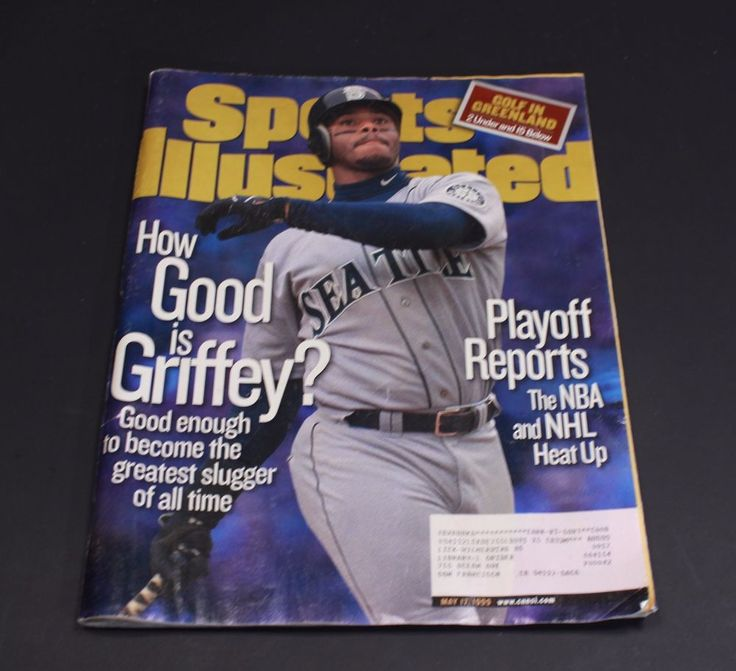 Ken Griffey Jr Sports Illustrated Seattle Mariners Baseball May 17 1999 How Good #Magazine