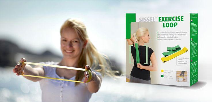 Der SISSEL® Exercise Loop kann sehr vielseitig zum progressiven Muskelaufbau eingesetzt werden. Er kann im Gruppen- und Personal-Training, bei der Aqua-Gymnastik und im Seniorensport zur Anwendung kommen. Das handliche Fitband ist ein elastisches Übungsband, das in Ringform hergestellt wird. In jedem Set gibt es 2 verschiedene Stärken. Das gelbe ist die leichte und das grüne die starke Ausführung. So kann man das Training langsam aufbauen und den Schwierigkeitsgrad nach Bedarf erhöhen.