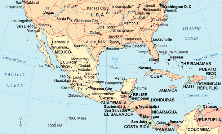 Map Of Southern Mexiconorthern Guatemala Illustration Project - Map us mexico