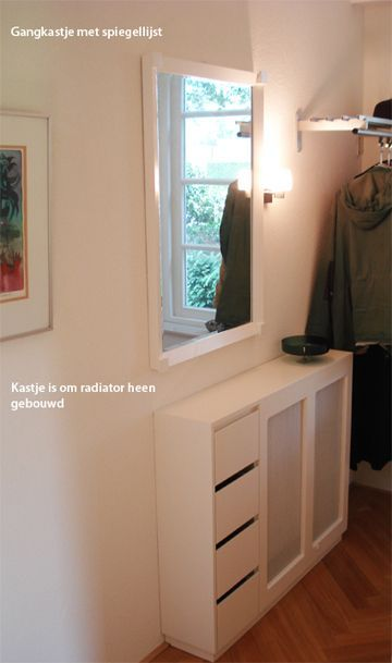 Radiator cover with matching mirror