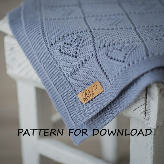 Knit Baby Blanket Pattern Knitting Pattern for Babies par belovedLT