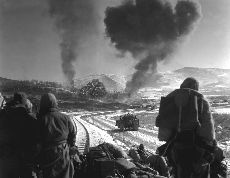 Close air support by Marine Vought F4U Corsairs during the Battle of Chosin Reservoir Korea [3000  2332 ] December 26 1950
