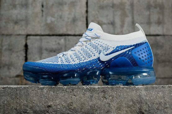 e51839ed695 2018 New Arrival Nike Air Vapor Max 2018 Flyknit 2 Blue White blanc  942842-104 Youth Big Boys Shoes