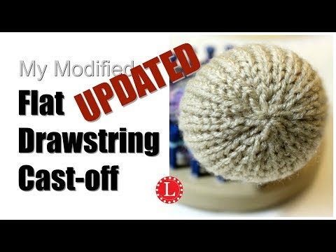 LOOM KNITTING Cast-off Flat Drawstring for Hats and Toys on Round Loom – YouTube