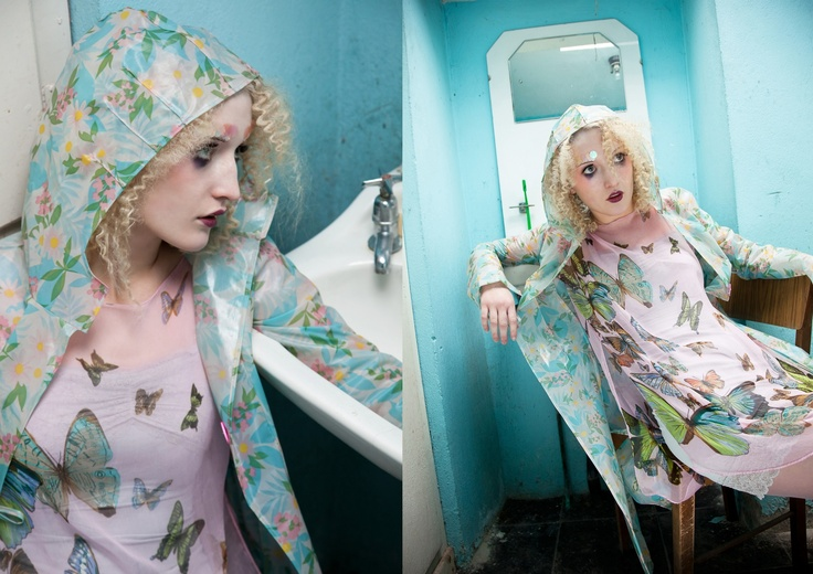 ALICE HALLIDAY | Shower curtain Mac and Butterfly Scarf Dress