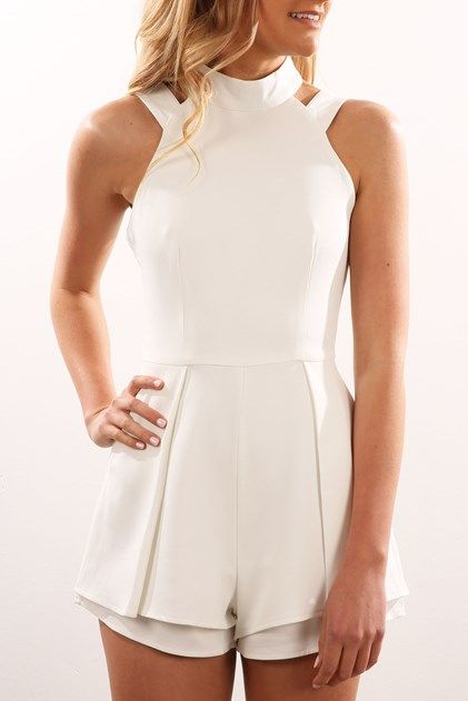 Mylie Playsuit White